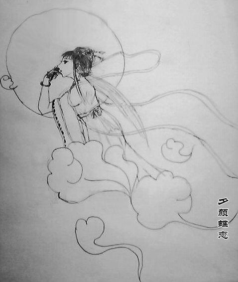 铅笔画嫦娥手绘