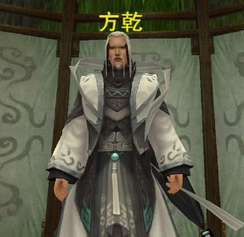 古代男子白衣背影手绘