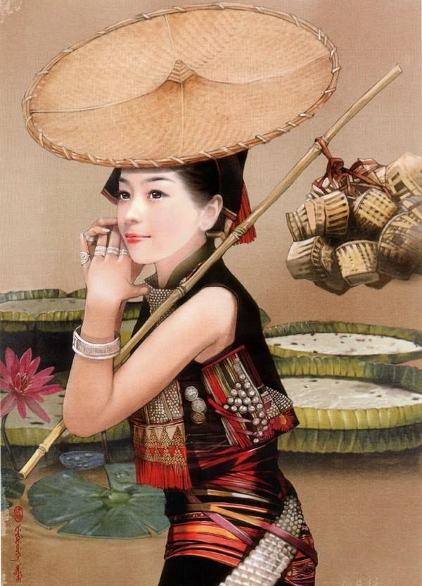 傣族手绘服装设计图