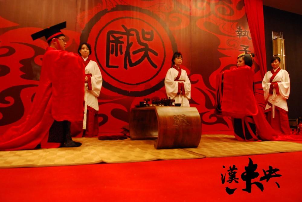 超震撼的汉代婚礼场景
