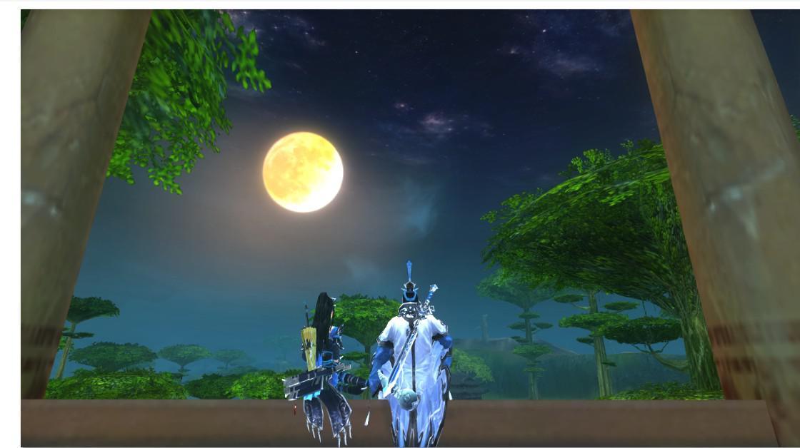 【中秋留念】月光下的背影
