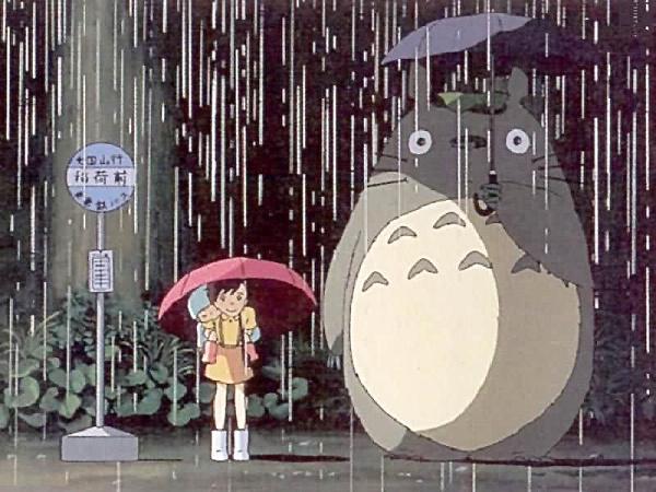 龙猫雨伞简笔画