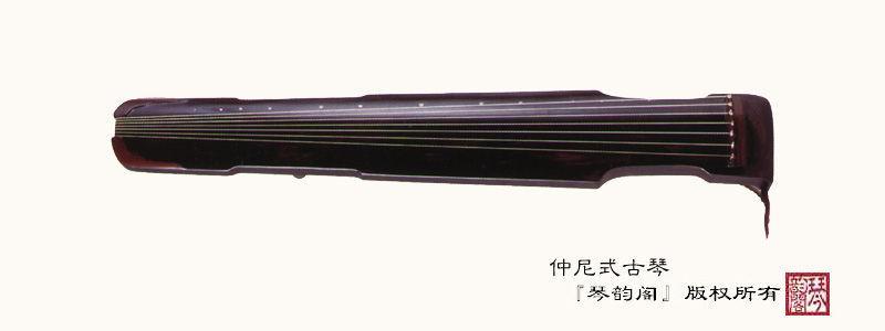 面板又称琴面,是一块长形木板,表面呈拱形,琴首一端开有穿弦孔,琴尾为