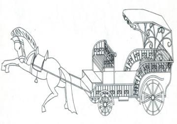 马车可爱简笔画