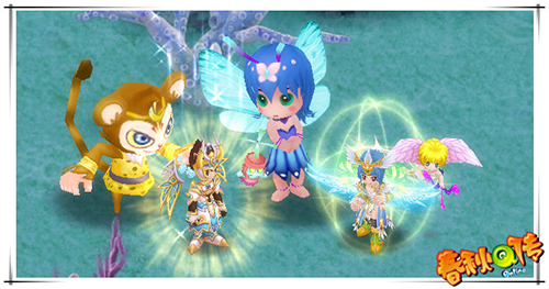 呆萌元灵卡:乖乖青蛙,蓝色小精灵,悟空,可爱元神特效:外星使者,天使