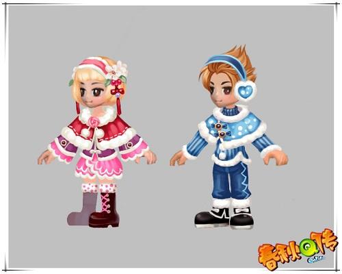 冰雪外装:温暖雪地玫瑰装,冰雪音乐精灵装