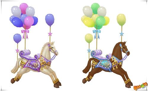 旋转木马坐骑:梦幻旋转木马,童话旋转木马,萌宠元灵:绿色小精灵,小萌