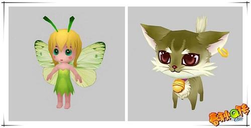 萌宠元灵:绿色小精灵,小萌猫