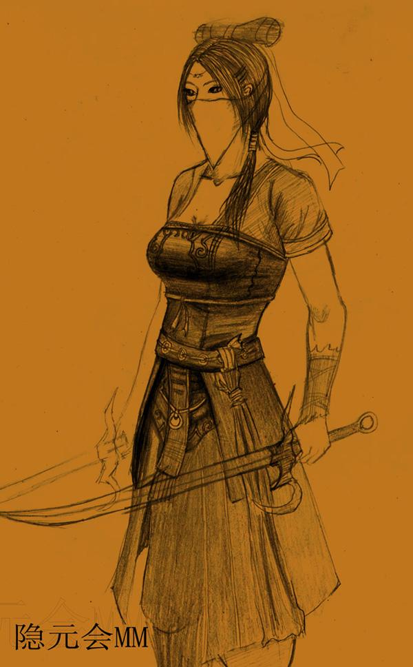 剑侠情缘网络版叁官网作者:晴画露儿      铅笔手绘,玩剑三还是个