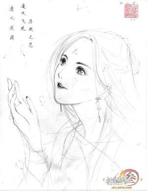 手绘人物肖像