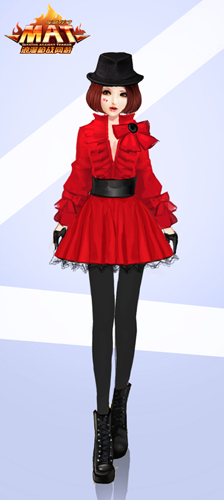 (图5:红色连衣裙