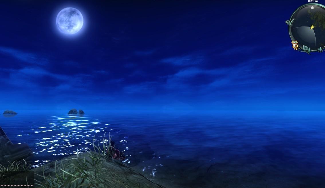 普通日轮 美丽的月亮,宁静的海